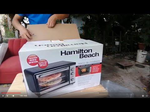 Abriendo mi nuevo horno de convección Hamilton Beach