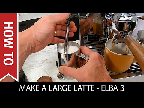 How to Make a Large Latte on the Elba 3 Espresso Machine/Ceado E5P Grinder