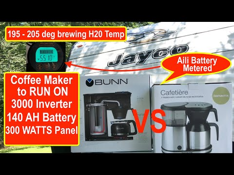 Bonavita 5 cups vs Bunn Velocity 10 Cups! Finding the perfect coffee maker for our Travel Trailer RV