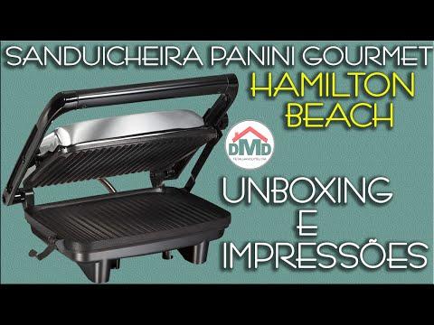 Sanduicheira Panini Gourmet Hamilton Beach – Unboxing e Primeiras Impressões