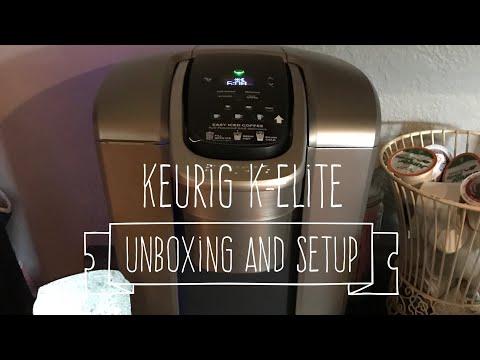 Keurig K-Elite Unboxing and Setup