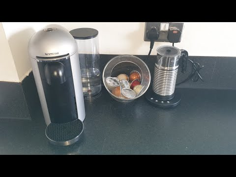 Nespresso virtuo plus coffee machine demo and review