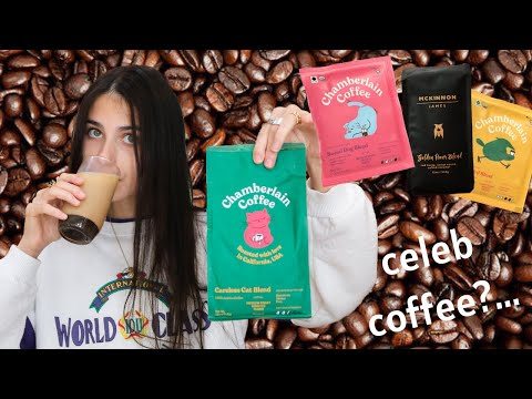 I Reviewed Celebrity Coffee Brands (feat. emma chamberlain's new coffee)