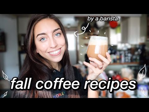 Coffee Recipes at Home by a barista // fall edition (pumpkin spice and more)