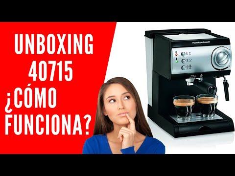 Unboxing Tips Guía Uso Instrucciones Expresso Capuchino Cafetera 40715 Hamilton Beach Latte