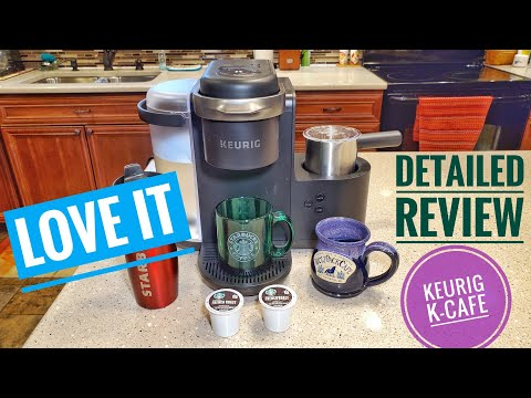 DETAILED Review Keurig K-Cafe Espresso Cappuccino K-Cup Coffee Maker How To Use