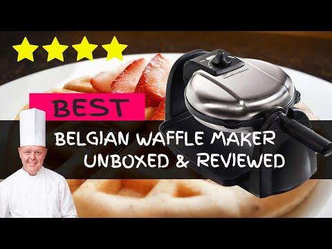 BEST Hamilton Beach Belgian Waffle Maker Unboxing & Review