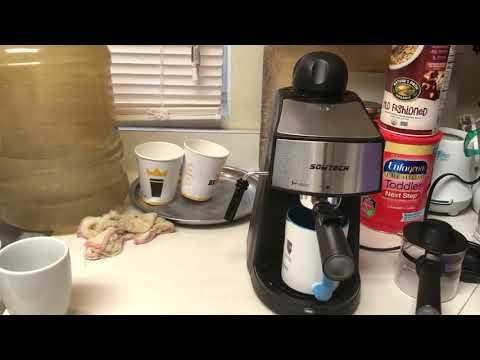 Espresso Machine 3 5 Bar 4 Cup Espresso Maker Cappuccino Machine with Steam Milk Frother and Carafe