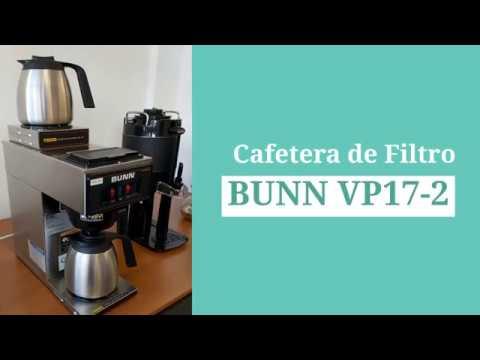 Cafetera de filtro Bunn VP17-2 – Servicios Integrados Argentinos