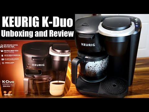 Keurig K-Duo Coffee Maker Unboxing Review and Demo