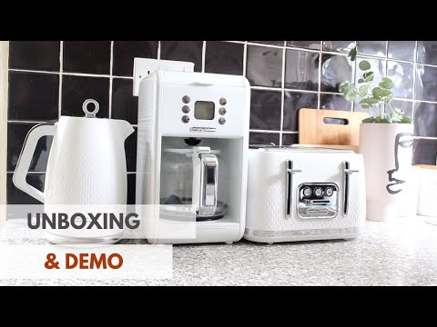 MORPHY RICHARDS VERVE KETTLE, COFFEE MACHINE AND 4 SLICE TOASTER UNBOXING, DEMO AND REVIEW