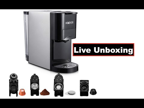 First Look | HOMEVER 4 in 1 Coffee Maker | Bottomless Portafilter Demo | Acaia Scale