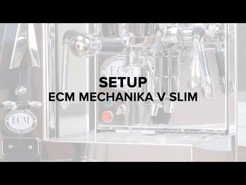 ECM Mechanika V Slim Espresso Machine Setup