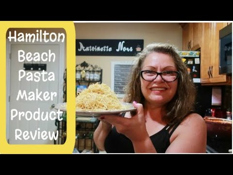 Hamilton Beach Pasta Maker Product Review & Semi Homemade Keto Pasta Sauce