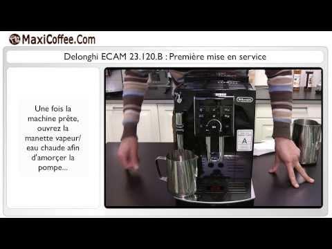 Première mise en service – Delonghi ECAM 23.120.B | Les Tutos MaxiCoffee