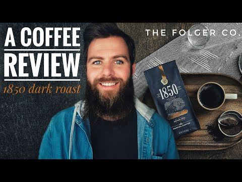 A Coffee Review ☕ 1850 The Folger Co Dark Roast 2020 Review #29