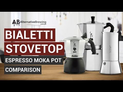 Bialetti Stovetop Espresso Moka Pot Comparison