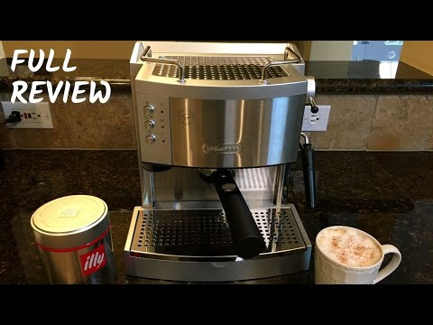 Delonghi EC 702 Manual Espresso Machine Review | Pouring Shots & Vanilla Latte