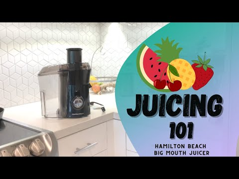 JUICING FOR BEGINNERS & HOW TO JUICE | HAMILTON BEACH JUICER UNBOXING + REVIEW |