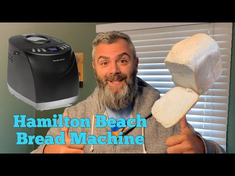 Hamilton Beach 2lb digital Bread Maker third attempt basic 1.5 white loaf