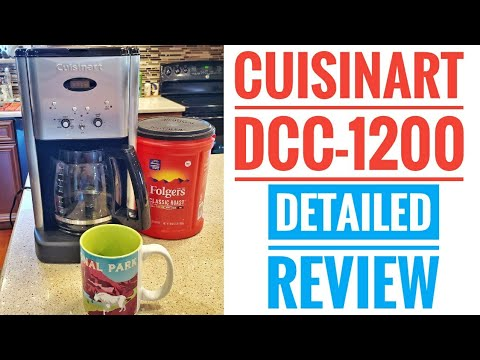 DETAILED REVIEW Cuisinart DCC-1200 Coffee Maker Brew Central 12 Cup Programmable