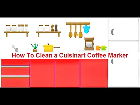 How To Clean a Cuisinart Coffee Maker✅✅