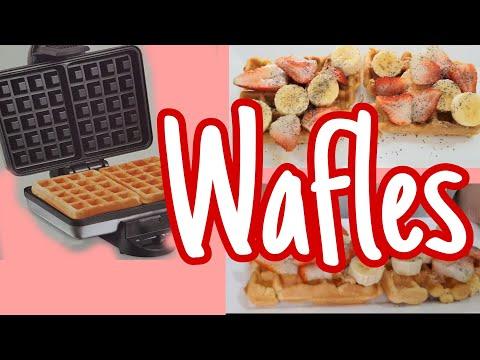 Waffles. Deliciosos. Recomiendo la waflera Hamilton Beach? al final RECOMENDACIONES