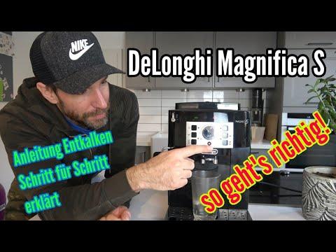 DeLonghi Magnifica S Entkalken Anleitung Schritt für Schritt Entkalen von ECAM 22.110.B