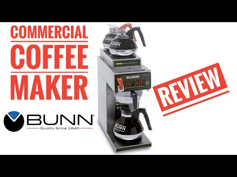 BUNN Commercial Coffee Maker CW Series Review CWTF20-3 How To Use