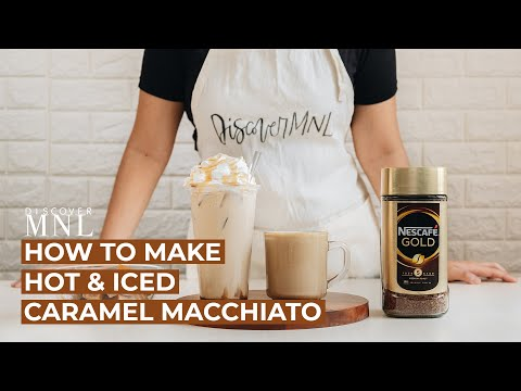 Easy Caramel Macchiato Recipe at Home! (Hot & Iced Coffee)