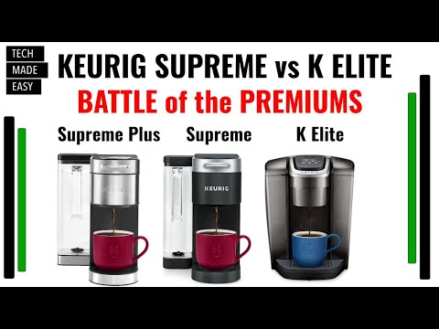 BATTLE of the Keurig Premium Coffee Makers K Supreme Plus, K Elite & K Supreme DETAILED Comparison