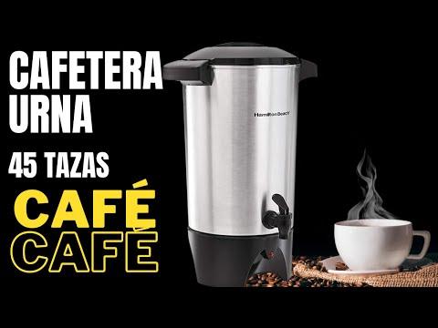 Unboxing Cafetera Urna de 45 tazas aluminio café americano Hamilton Beach 40515R ¿Cómo se usa?