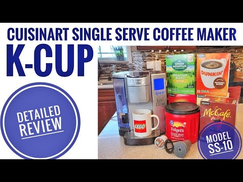 DETAILED REVIEW Cuisinart Single Serve K-Cup Coffee Maker SS-10 How To Use