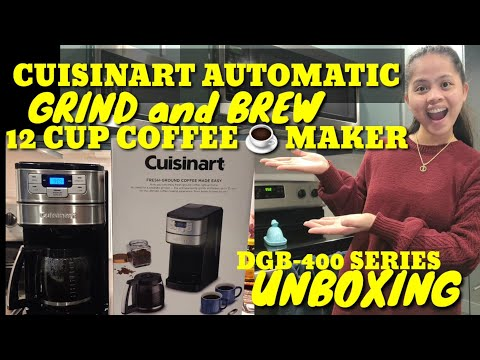 CUISINART AUTOMATIC grind and Brew |12 CUPS Coffee maker, DGB-400 series