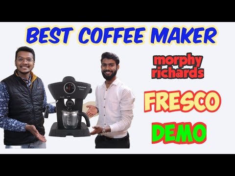 Morphy Richards FRESCO Coffee Maker Unboxing Demo and Review | Best Espresso Coffee Maker