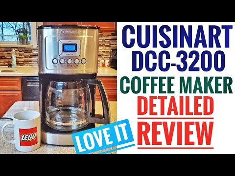 DETAILED REVIEW Cuisinart DCC-3200 Perfectemp Coffee Maker 14 Cup Programmable LOVE IT.