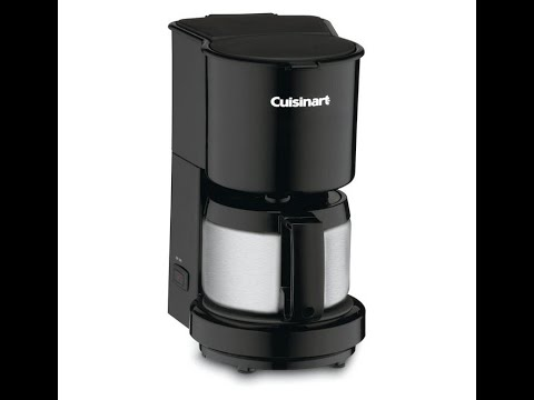 BEST SMALL COFFEE MAKER! Cuisinart DCC-450BK  ( 20 oz) with Stainless-Steel Carafe, Black REVIEW