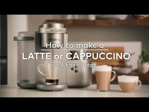 How to make a Latte or Cappuccino in 3 Easy Steps