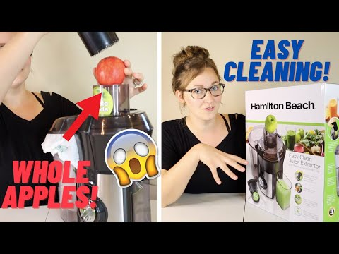 HAMILTON BEACH JUICER UNBOXING AND REVIEW 2021 | BIG MOUTH JUICE EXTRACTOR | EASY CLEAN SWEEP TOOL