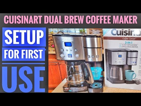 CUISINART Coffee Center 12 Cup Coffee Maker HOW TO SET UP BEFORE FIRST USE SS-15 INITIAL CLEANING