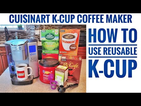 Cuisinart Single Serve K-Cup Coffee Maker SS-10 HOW TO USE REUSABLE K-CUP TO MAKE COFFEE