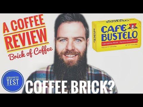 """A Coffee Review ☕ Café Bustelo Espresso """"Brick"""" 👍😁 2021 #66 Aeropress"""