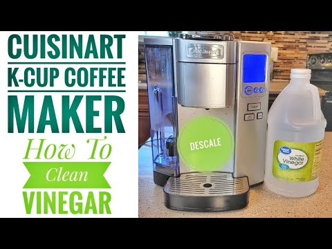 HOW TO DESCALE CLEAN Cuisinart K-Cup Coffee Maker Single Serve SS-10