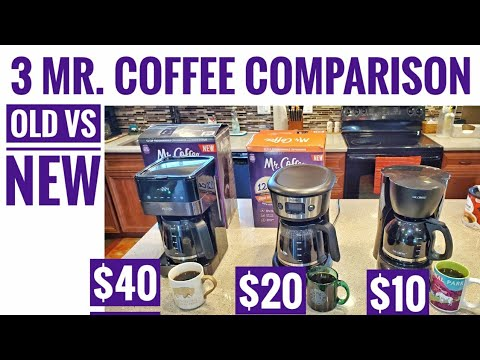 Mr Coffee Maker Comparison 12 Cup Led Touch display VS Strong Brew Selector Brew Times