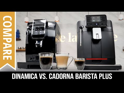Compare: DeLonghi Dinamica & Gaggia Cadorna Barista Plus Automatic Bean to Cup Coffee Machines