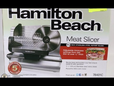 Hamilton Beach meat slicer review
