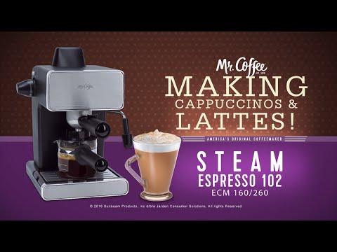 Mr. Coffee® Espresso Maker –  Making Capuccino & Latte