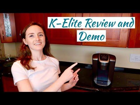 KEURIG K-ELITE COFFEE MAKER REVIEW AND DEMO