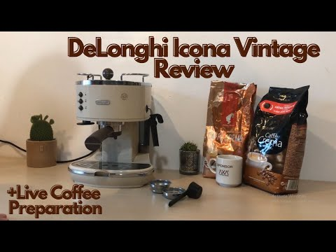 DeLonghi Icona Vintage Review ECOV 311.BG. Vintage Coffee & Espresso Machine Live Coffee Preparation