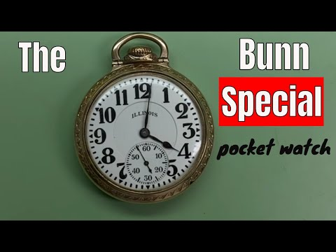 How to open up and set the time on a 1927 Bunn Special Rail Road pocket watch.